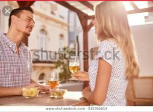 Man listening to a girl