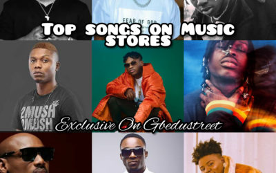 Naija songs that made it to the top list on Music stores.